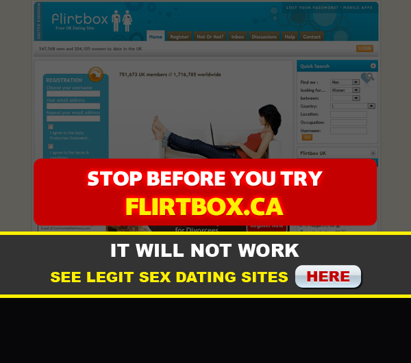 front page for flirtbox