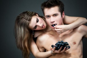 """""""Grapes are known to increase your sexual drive"""""""